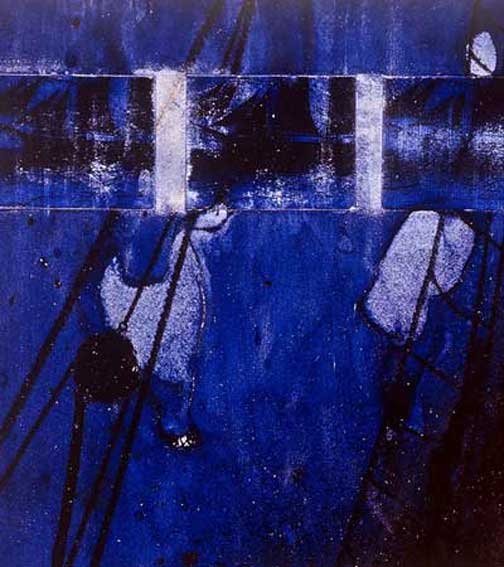 martin hautz: blue canvasses fluttering in the wind